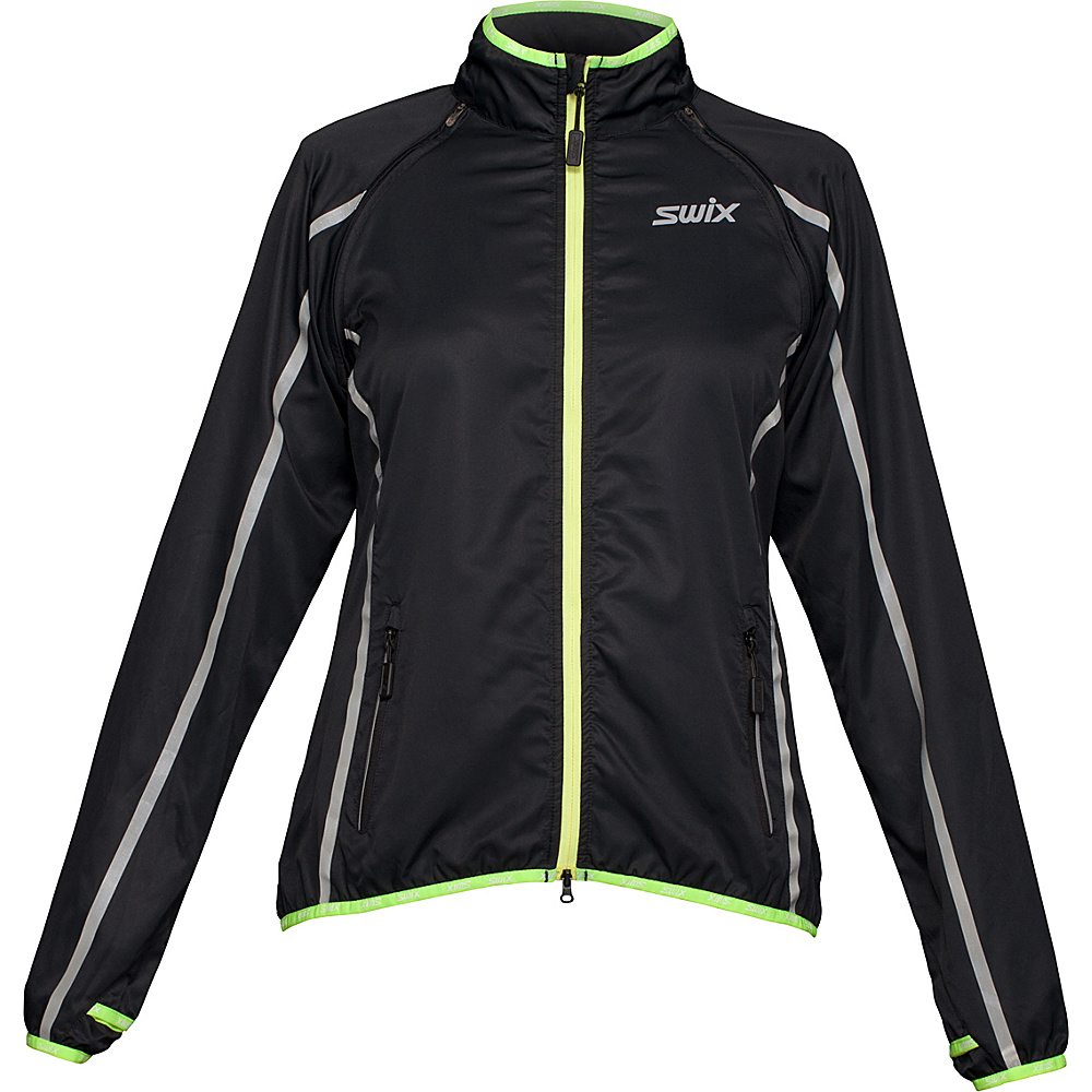 Swix Womens Cyclon 2 In 1 Jacket XS Black Swix Women s Apparel