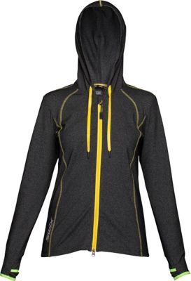 Image of Swix Womens Ergon Hooded Full Zip Sweater M - Black - Swix Women's Apparel