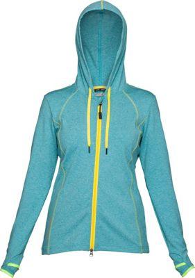 Swix Womens Ergon Hooded Full Zip Sweater L - Ice Blue - Swix Women's Apparel