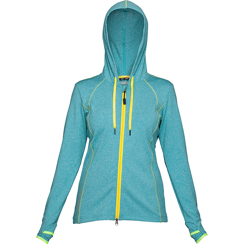 Swix Womens Ergon Hooded Full Zip Sweater M Ice Blue Swix Women s Apparel