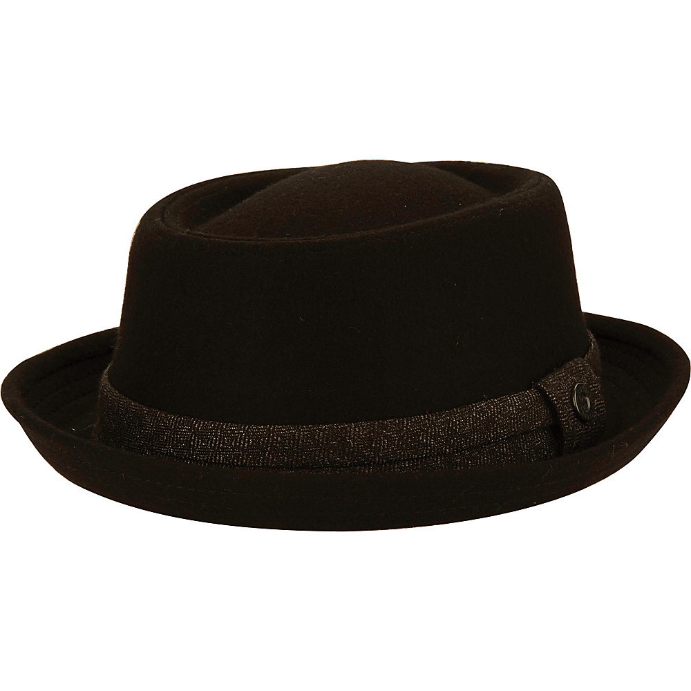 Ben Sherman Wool Porkpie Trilby Hat Black - L/XL - Ben Sherman Hats/Gloves/Scarves