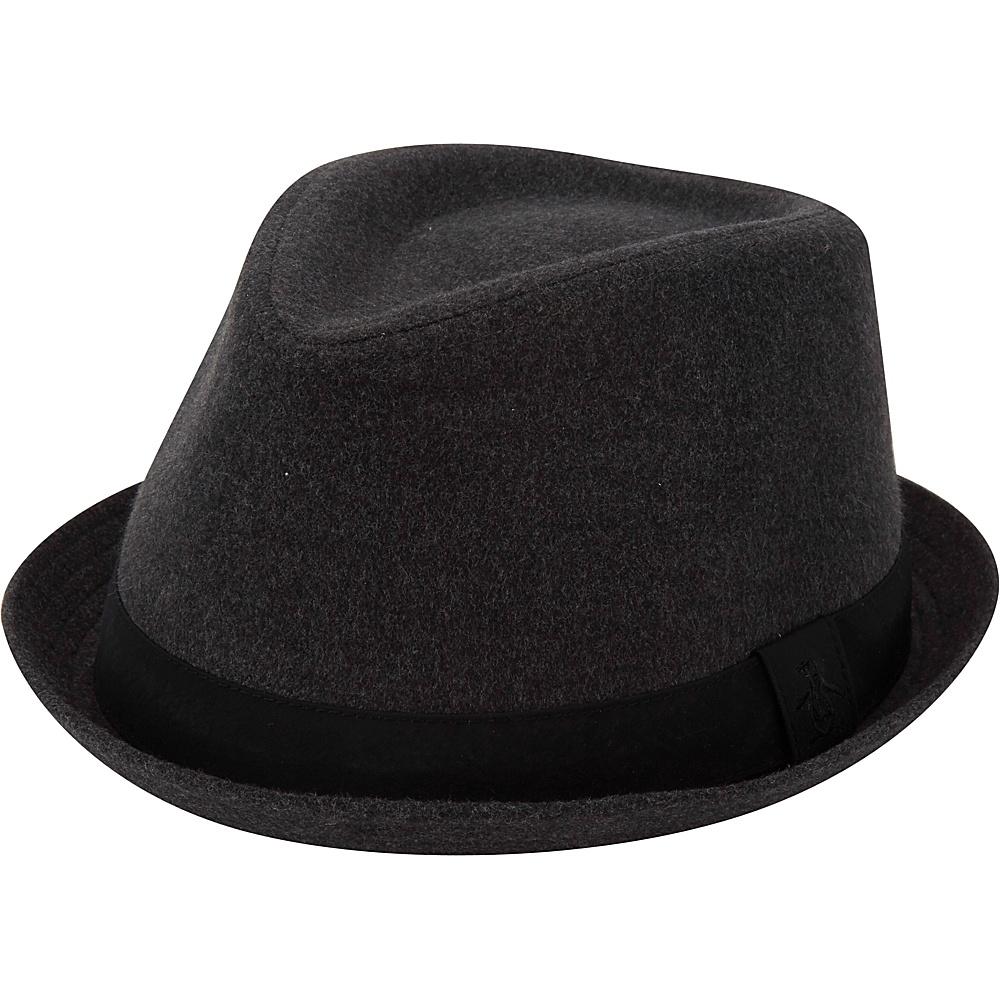 Original Penguin Melton Wool Porkpie Hat L/XL - Dark Shadow - Original Penguin Hats/Gloves/Scarves