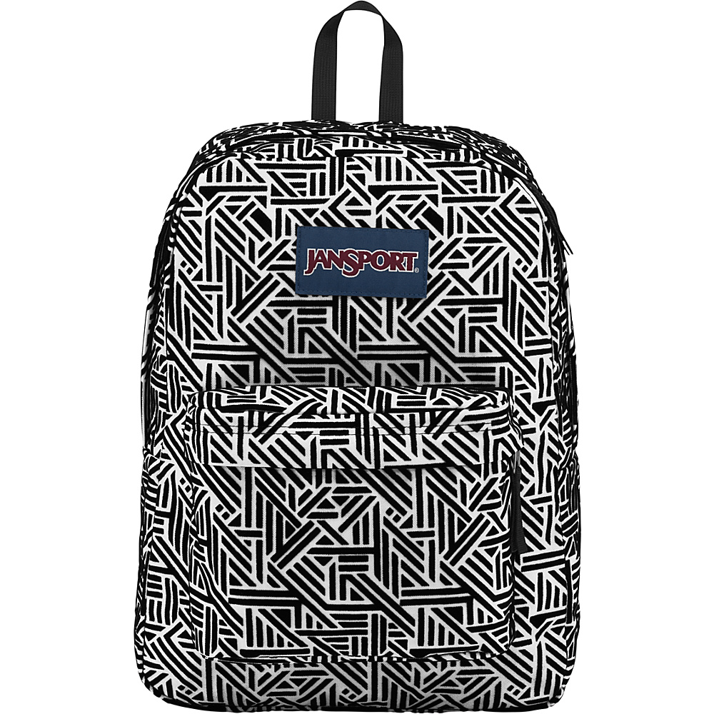 JanSport High Stakes Backpack- Sale Colors White Geo Flock - JanSport Everyday Backpacks