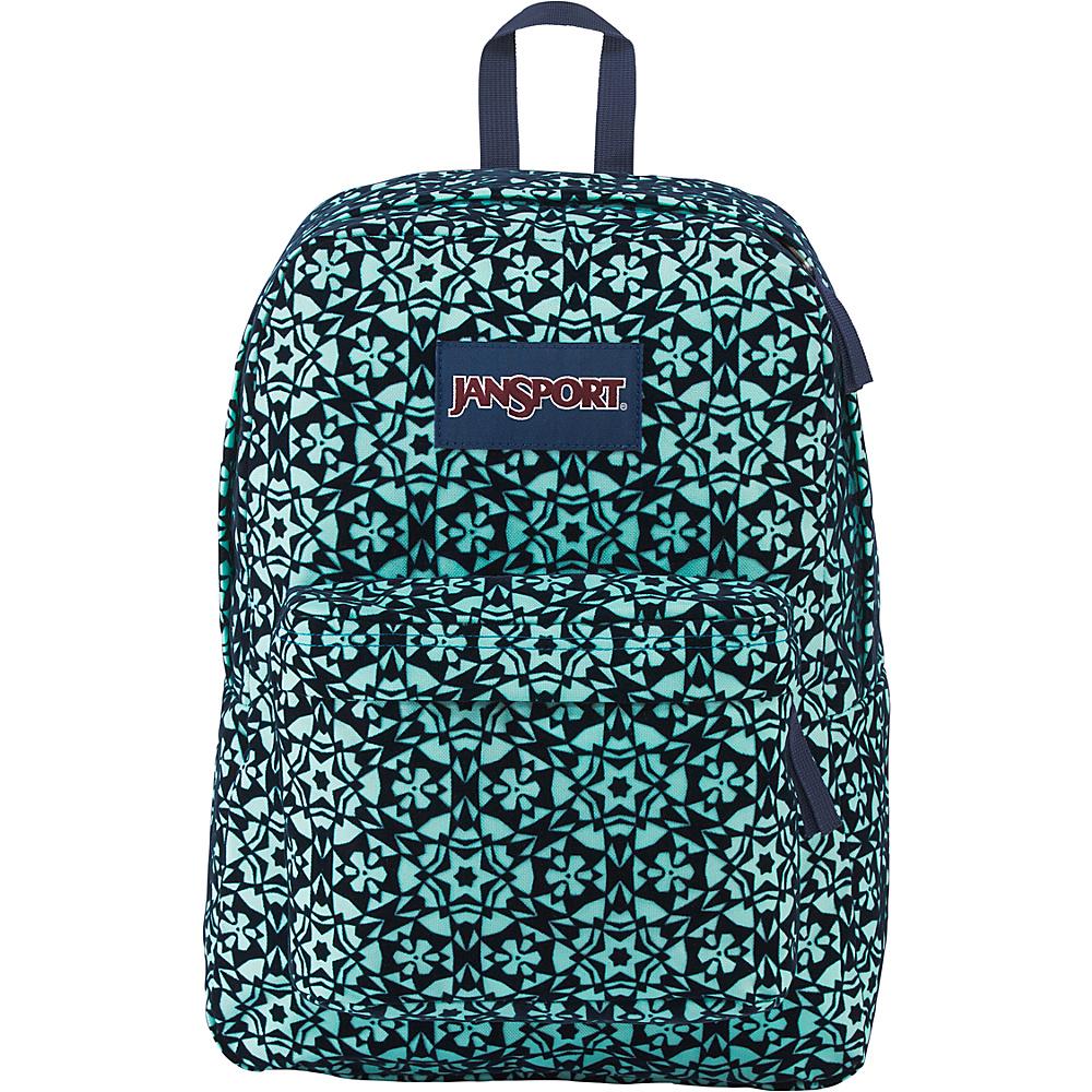 JanSport High Stakes Backpack- Sale Colors Aqua Dash Morrocan Flock - JanSport Everyday Backpacks