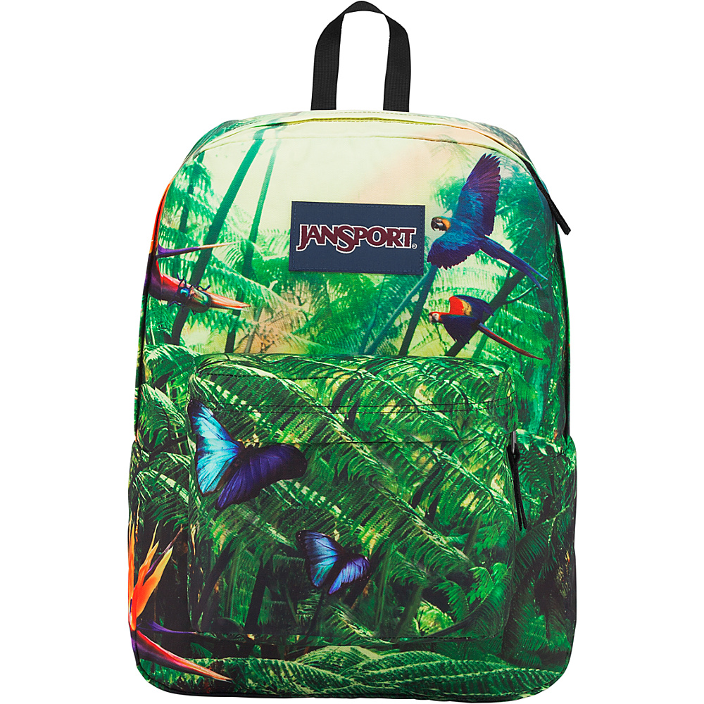 JanSport High Stakes Backpack- Sale Colors Wild Jungle - JanSport Everyday Backpacks
