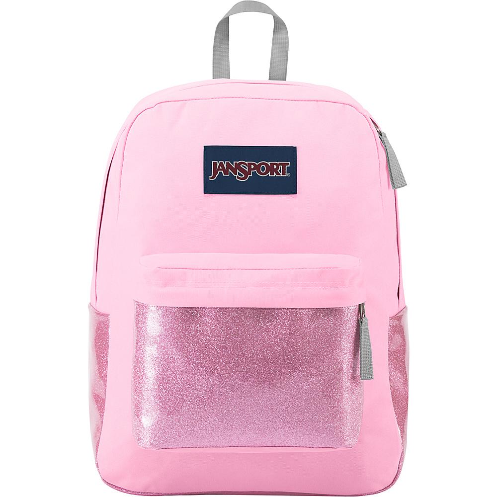 JanSport High Stakes Backpack- Sale Colors Prism Pink Sparkle - JanSport Everyday Backpacks
