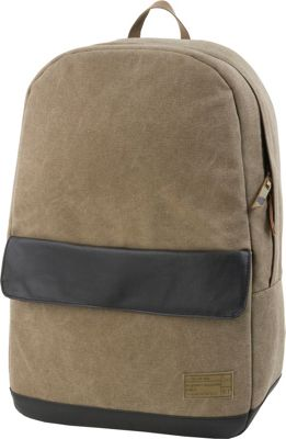 HEX Echo Canvas Backpack Infinity Khaki - HEX Business & Laptop Backpacks