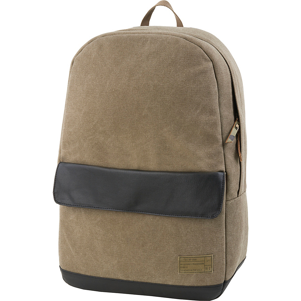 HEX Echo Canvas Backpack Infinity Khaki HEX Business Laptop Backpacks
