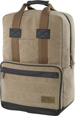HEX Convertible Canvas Backpack Infinity Khaki - HEX Business & Laptop Backpacks