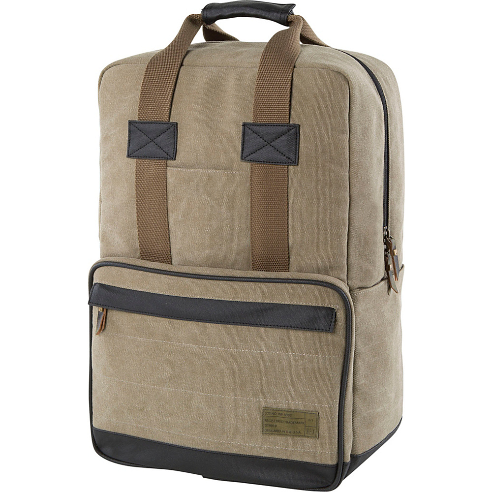 HEX Convertible Canvas Backpack Infinity Khaki HEX Business Laptop Backpacks