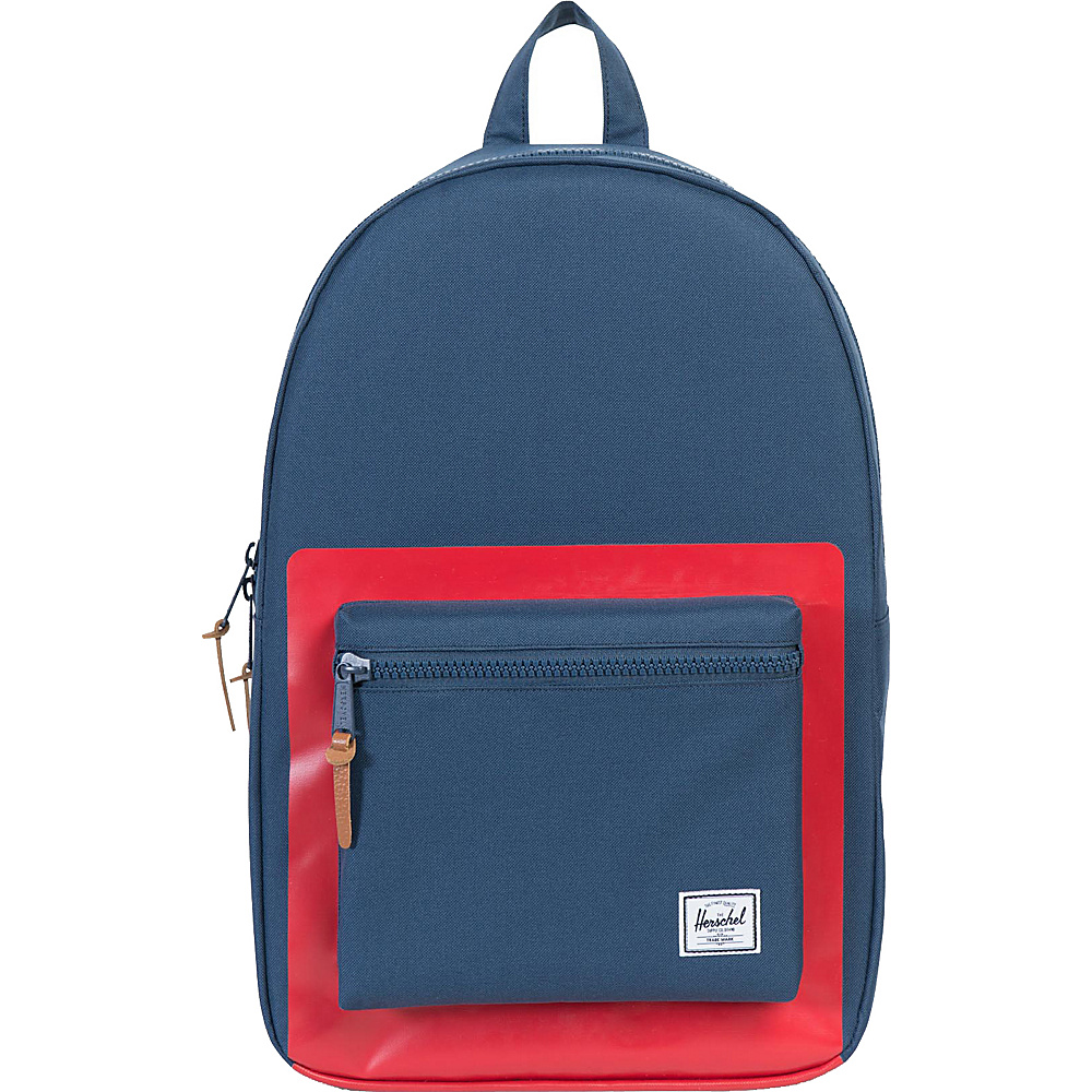 Herschel Supply Co. Settlement Laptop Backpack Discontinued Colors Navy Red Block Print Herschel Supply Co. Business Laptop Backpacks