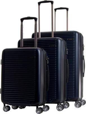 CalPak Tustin Hardside Expandable 3-Piece Luggage Set Navy - CalPak Luggage Sets