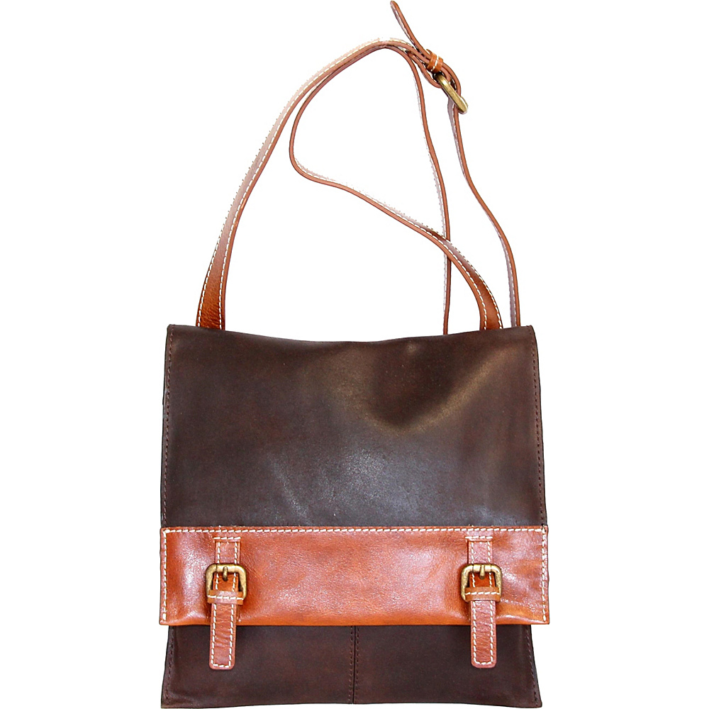 Nino Bossi She Loves Me Crossbody Chocolate - Nino Bossi Leather Handbags - Handbags, Leather Handbags