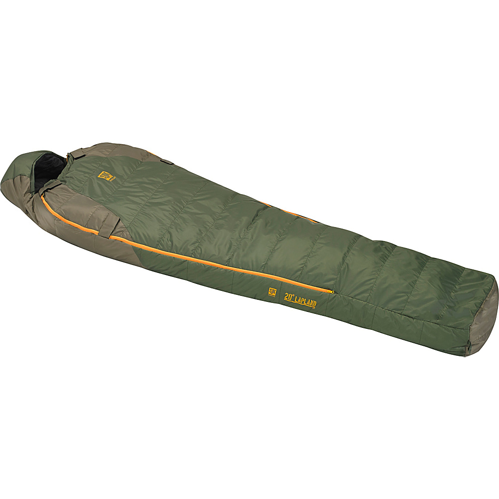 Slumberjack Lapland 20 Degree Long Hybrid Dual Zipper Two Tone Green Slumberjack Outdoor Accessories