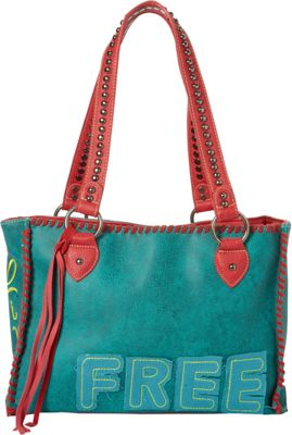 Montana West Concealed Handgun Tote Turquoise - Montana West Manmade Handbags