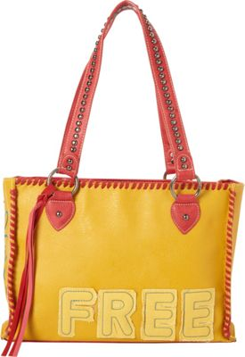 Montana West Concealed Handgun Tote Yellow - Montana West Manmade Handbags