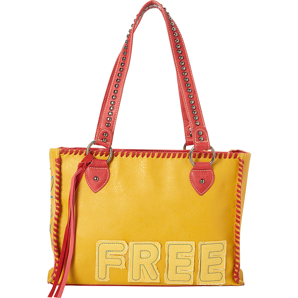 Montana West Concealed Handgun Tote Yellow Montana West Manmade Handbags