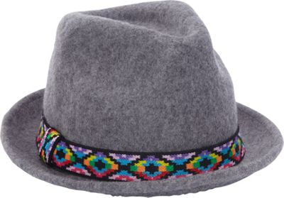 Image of Adora Hats Upturn Wool Felt Fedora Hat One Size - Grey - Adora Hats Hats/Gloves/Scarves