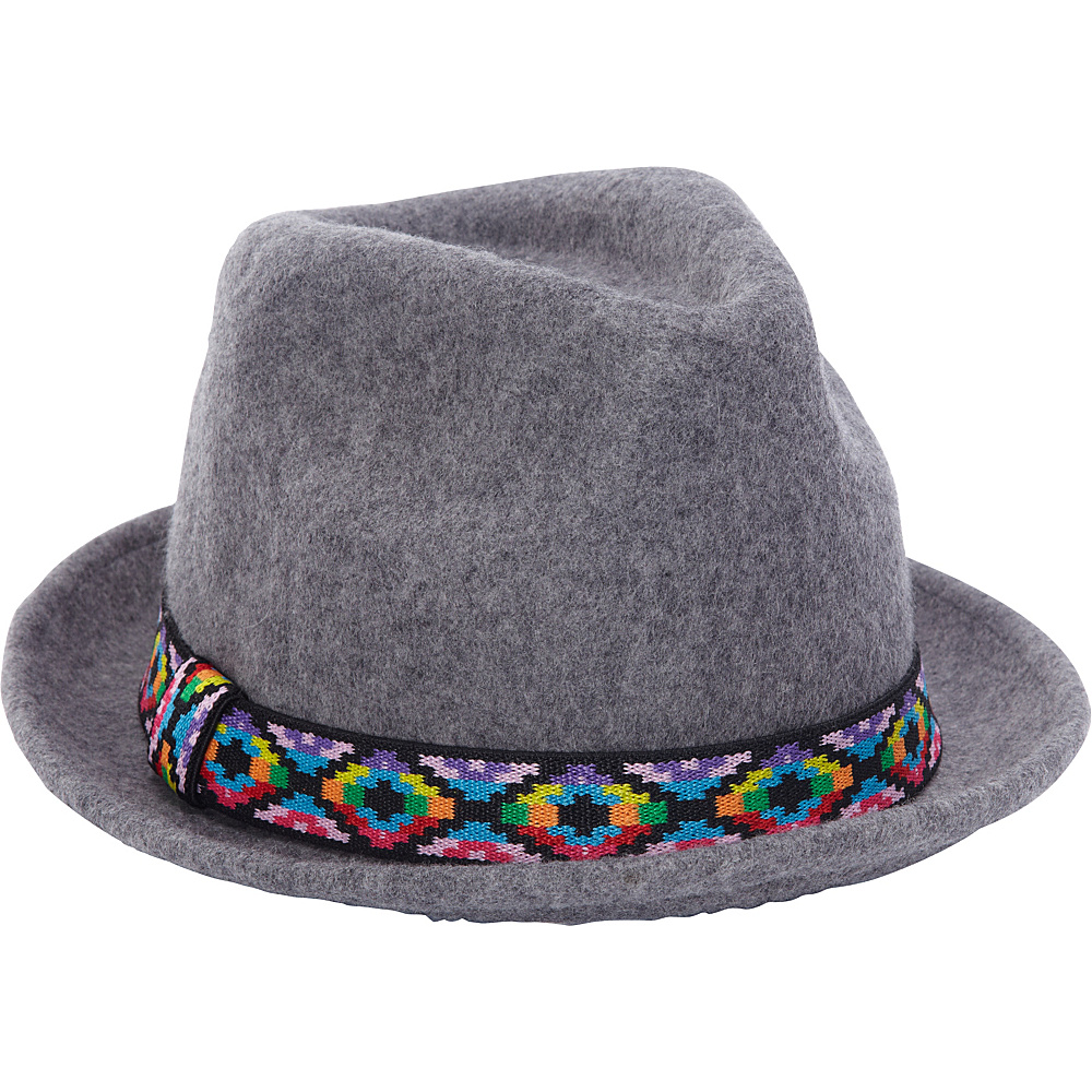 Adora Hats Upturn Wool Felt Fedora Hat Grey Adora Hats Hats Gloves Scarves