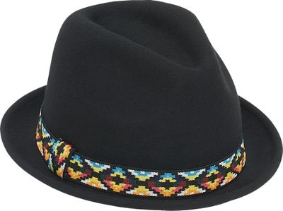 Image of Adora Hats Upturn Wool Felt Fedora Hat One Size - Black - Adora Hats Hats/Gloves/Scarves