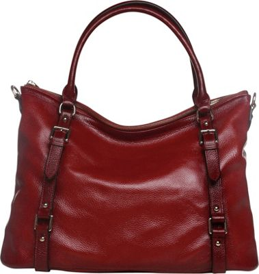 Vicenzo Leather Callie Leather Shoulder Bag Red - Vicenzo Leather Leather Handbags