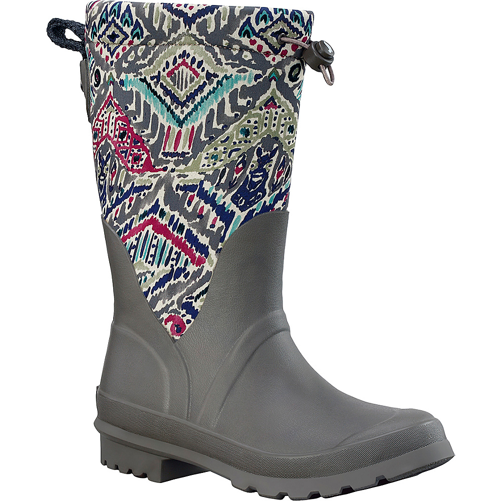 Sakroots Mezzo Tall Rain Boot 6 - M (Regular/Medium) - Slate Brave Beauti - Sakroots Womens Footwear - Apparel & Footwear, Women's Footwear