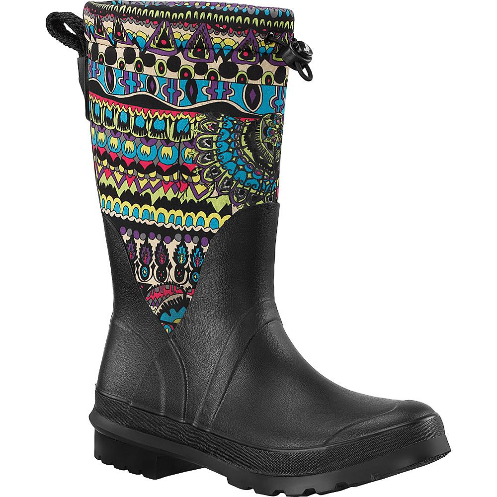 Sakroots Mezzo Tall Rain Boot 6 - M (Regular/Medium) - Radiant One World - Sakroots Womens Footwear - Apparel & Footwear, Women's Footwear