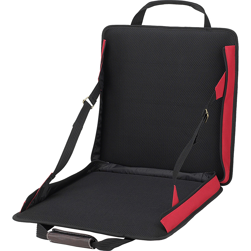 Picnic at Ascot Portable Adjustable Reclining Seat Red - Picnic at Ascot Outdoor Accessories - Outdoor, Outdoor Accessories