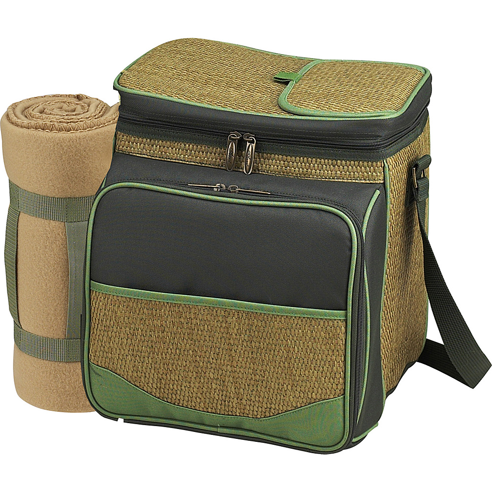Picnic at Ascot Picnic Basket / Cooler with Blanket - Fully Equipped for 2 Forest Green - Picnic at Ascot Outdoor Coolers - Outdoor, Outdoor Coolers