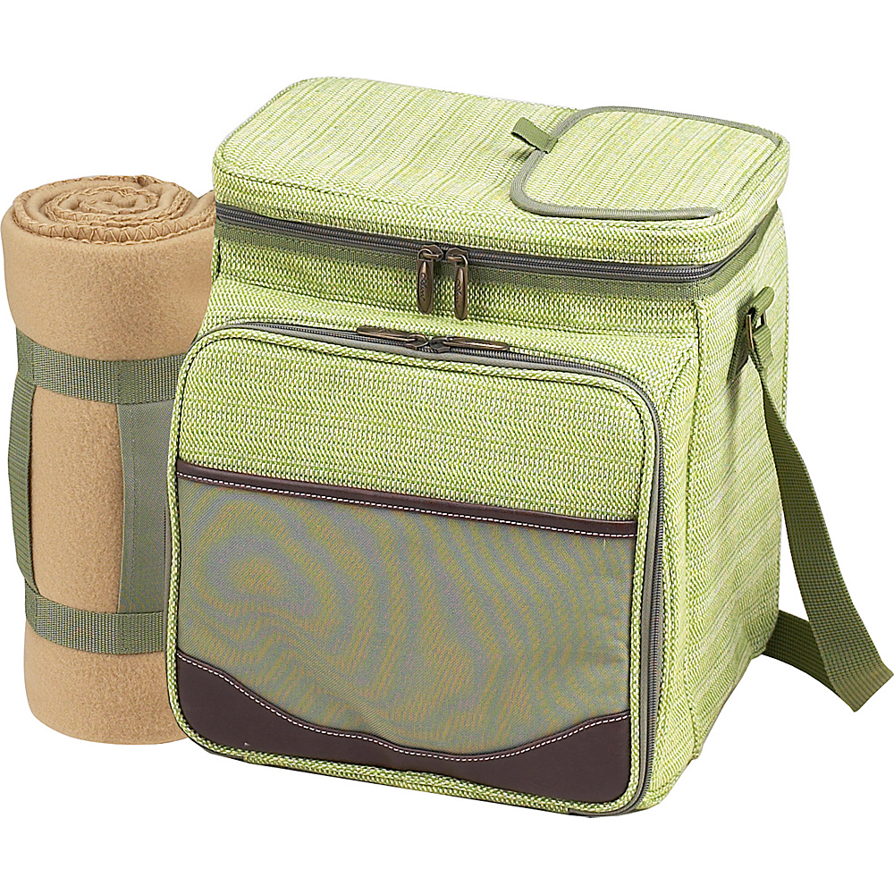 Picnic at Ascot Picnic Basket / Cooler with Blanket - Fully Equipped for 2 Olive Tweed - Picnic at Ascot Outdoor Coolers - Outdoor, Outdoor Coolers