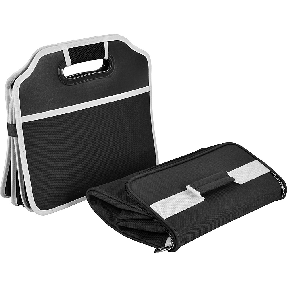 Picnic at Ascot Original Folding Trunk Organizer with Cooler Black - Picnic at Ascot Trunk and Transport Organization - Travel Accessories, Trunk and Transport Organization