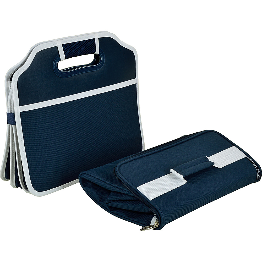 Picnic at Ascot Original Folding Trunk Organizer with Cooler Navy - Picnic at Ascot Trunk and Transport Organization - Travel Accessories, Trunk and Transport Organization