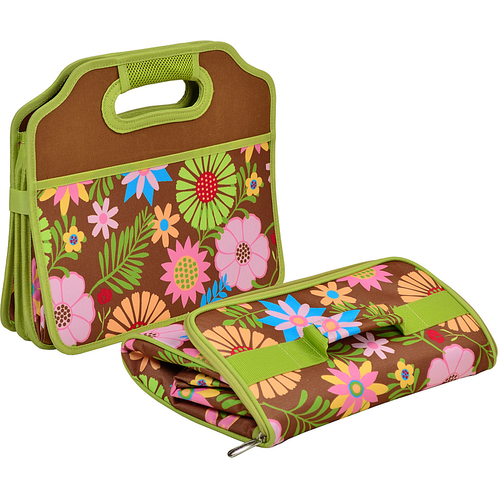 Picnic at Ascot Original Folding Trunk Organizer with Cooler Floral - Picnic at Ascot Trunk and Transport Organization - Travel Accessories, Trunk and Transport Organization