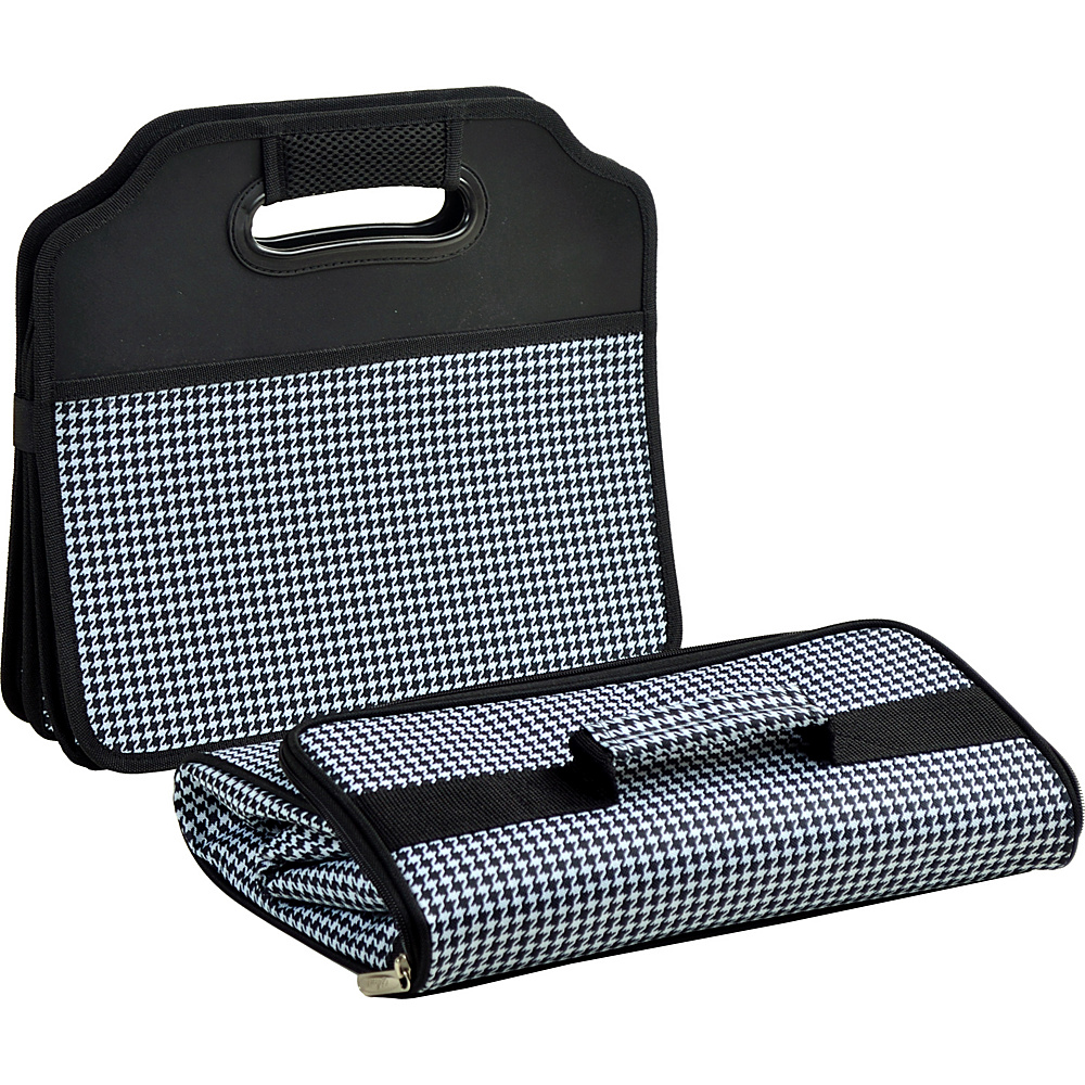 Picnic at Ascot Original Folding Trunk Organizer with Cooler Houndstooth - Picnic at Ascot Trunk and Transport Organization - Travel Accessories, Trunk and Transport Organization