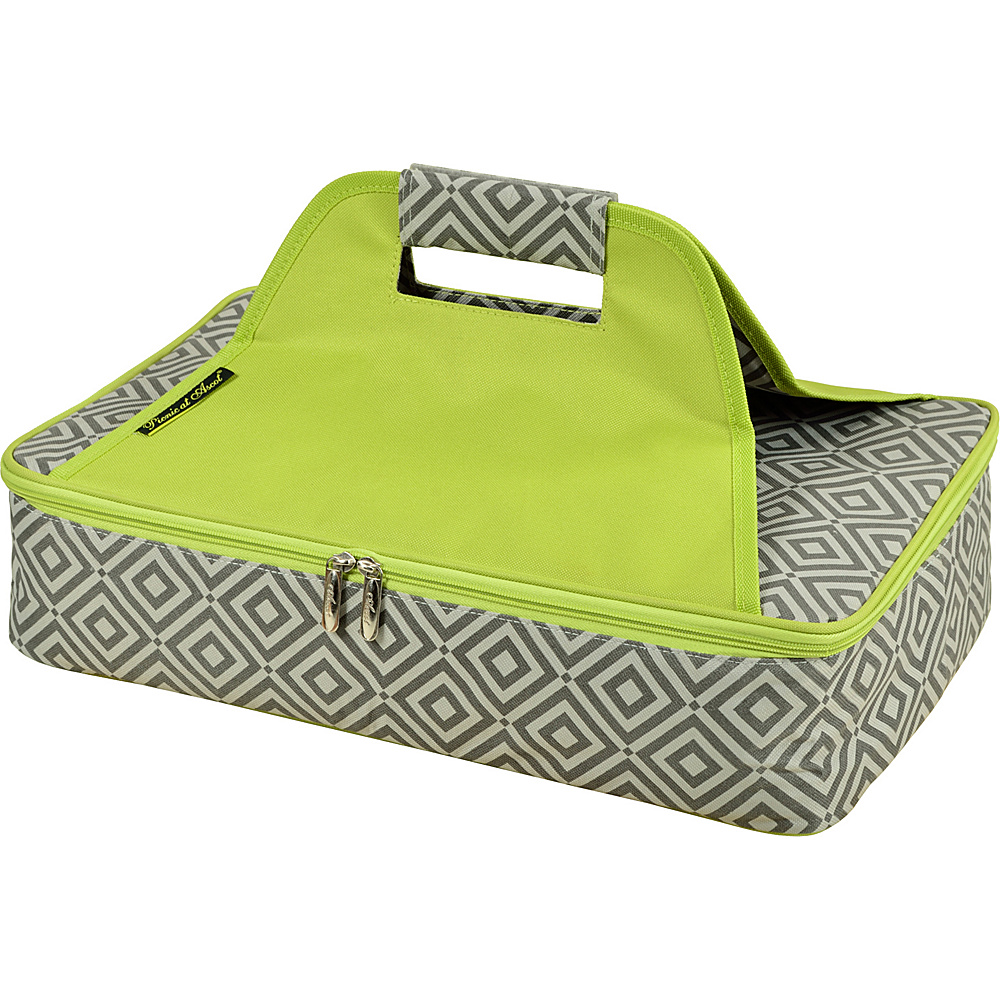 Picnic at Ascot Insulated Casserole Carrier to keep Food Hot or Cold Granite Grey /Green - Picnic at Ascot Outdoor Accessories - Outdoor, Outdoor Accessories