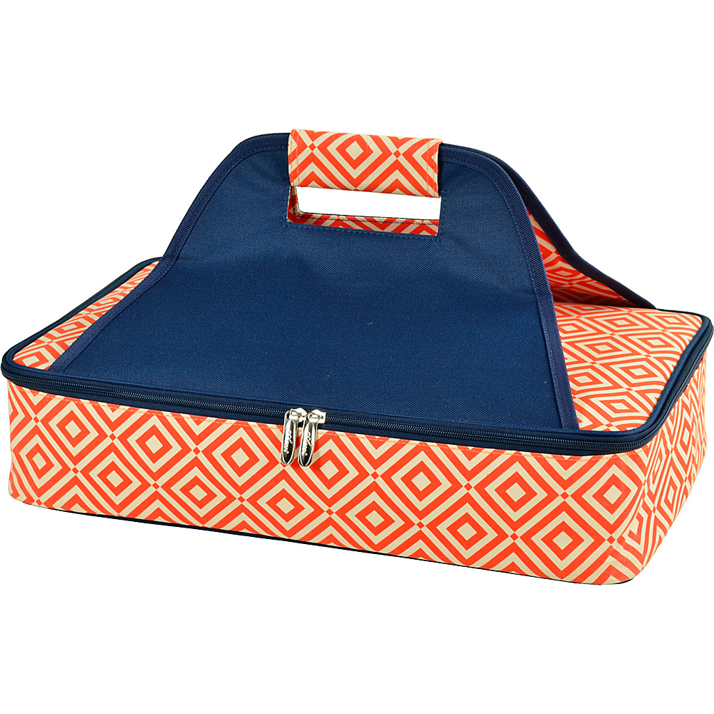 Picnic at Ascot Insulated Casserole Carrier to keep Food Hot or Cold Orange/Navy - Picnic at Ascot Outdoor Accessories - Outdoor, Outdoor Accessories