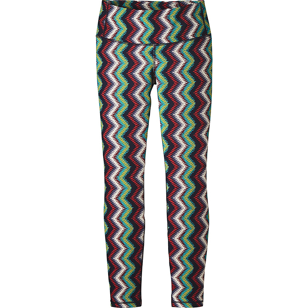 Patagonia Womens Centered Tights XL - Timber Stripe: Navy Blue - Patagonia Womens Apparel - Apparel & Footwear, Women's Apparel