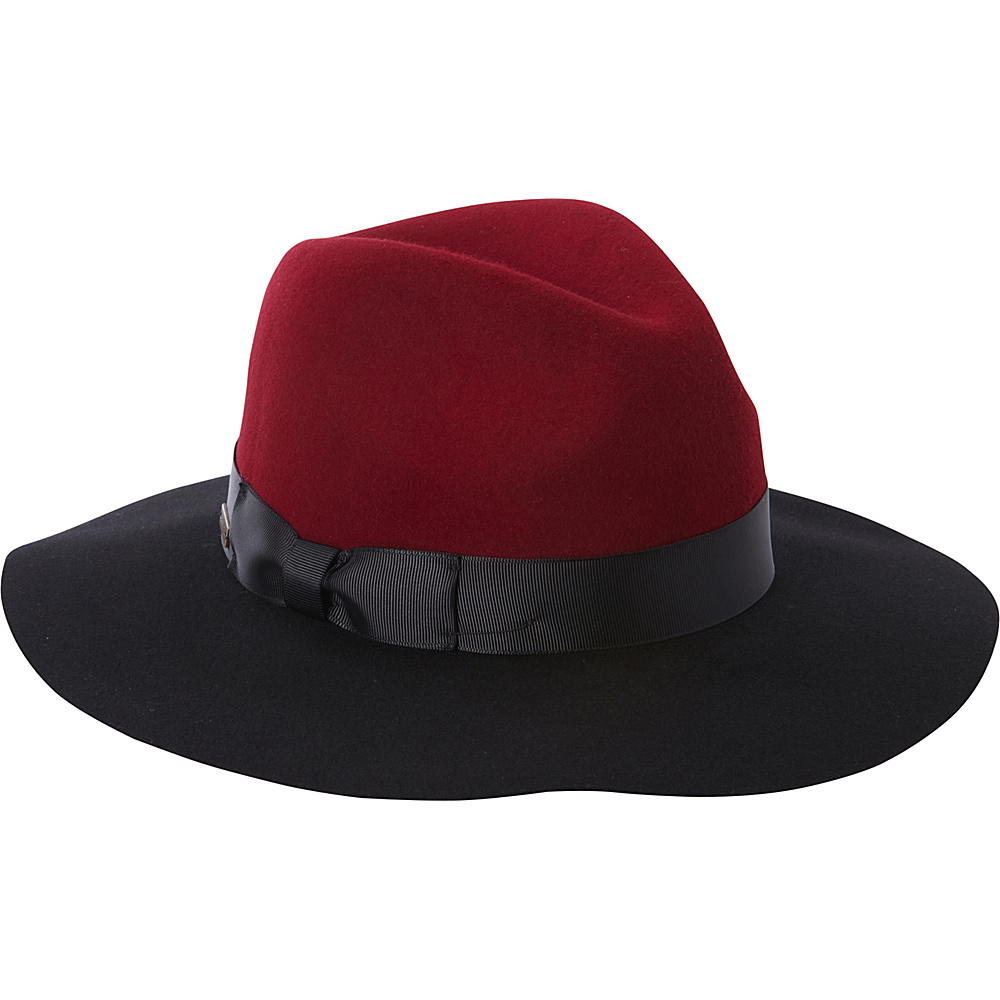 Betmar New York Gertrude Fedora Black/Bordeaux - Betmar New York Hats