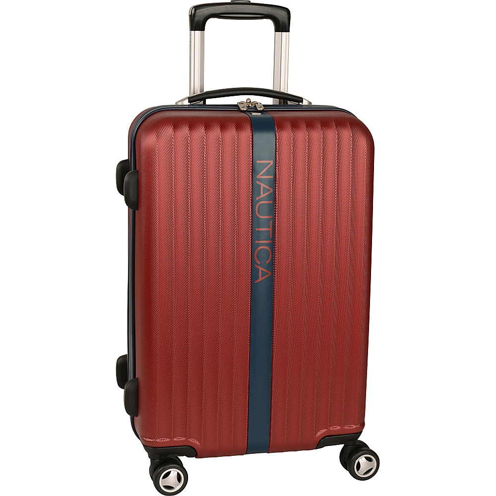 "Nautica Surfers Paradise 21"" Hardside Spinner Carry-On Burgandy/Navy - Nautica Kids' Luggage"