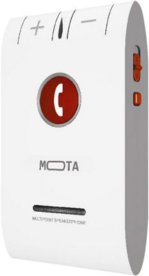 Mota HD+ Bluetooth 4.0 Hands-free Car Kit  Multi Device White - Mota Car Travel