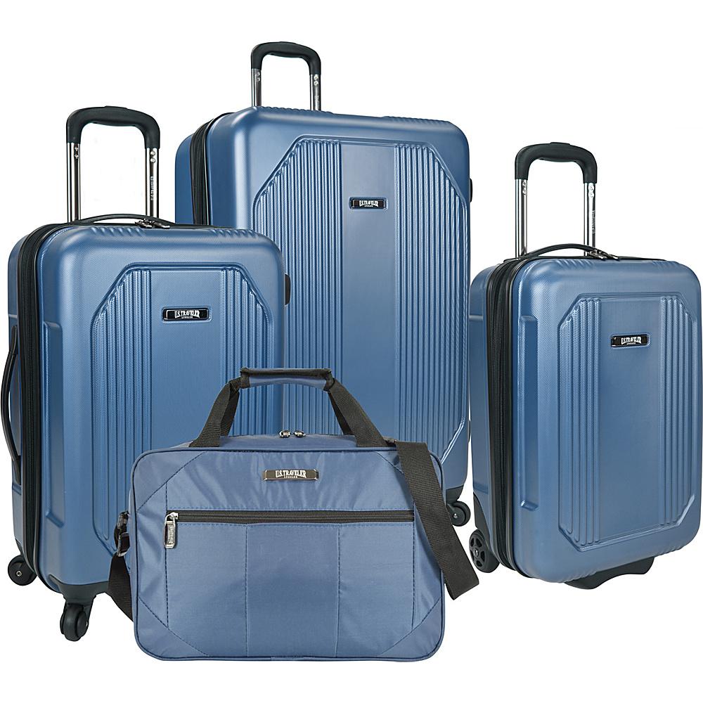 U.S. Traveler Bloomington 4 Piece Spinner Set Blue U.S. Traveler Luggage Sets