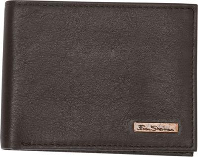 Ben Sherman Luggage Hackney Collection Leather RFID 5-Pocket Billfold Wallet Brown - Ben Sherman Luggage Men's Wallets