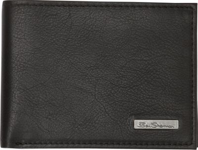 Ben Sherman Luggage Hackney Collection Leather RFID 5-Pocket Billfold Wallet Black - Ben Sherman Luggage Men's Wallets