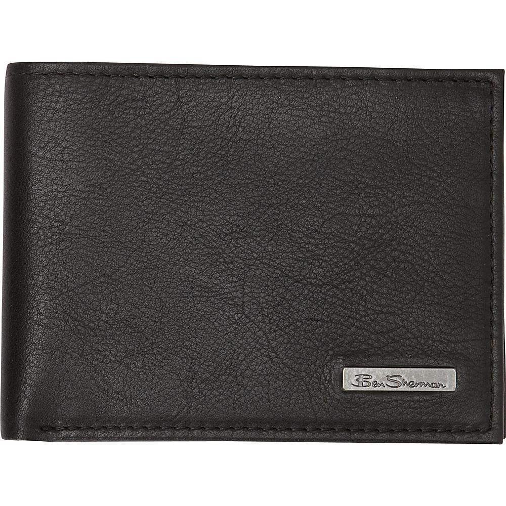 Ben Sherman Luggage Hackney Collection Leather RFID 5 Pocket Billfold Wallet Black Ben Sherman Luggage Men s Wallets