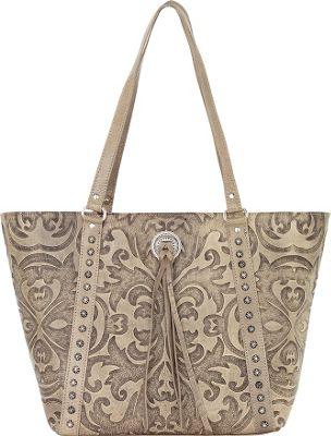 American West Baroque Bucket Tote Sand - American West Leather Handbags