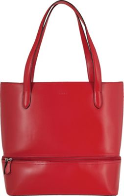 Lodis Audrey Amil Commuter Tote Red - Lodis Leather Handbags