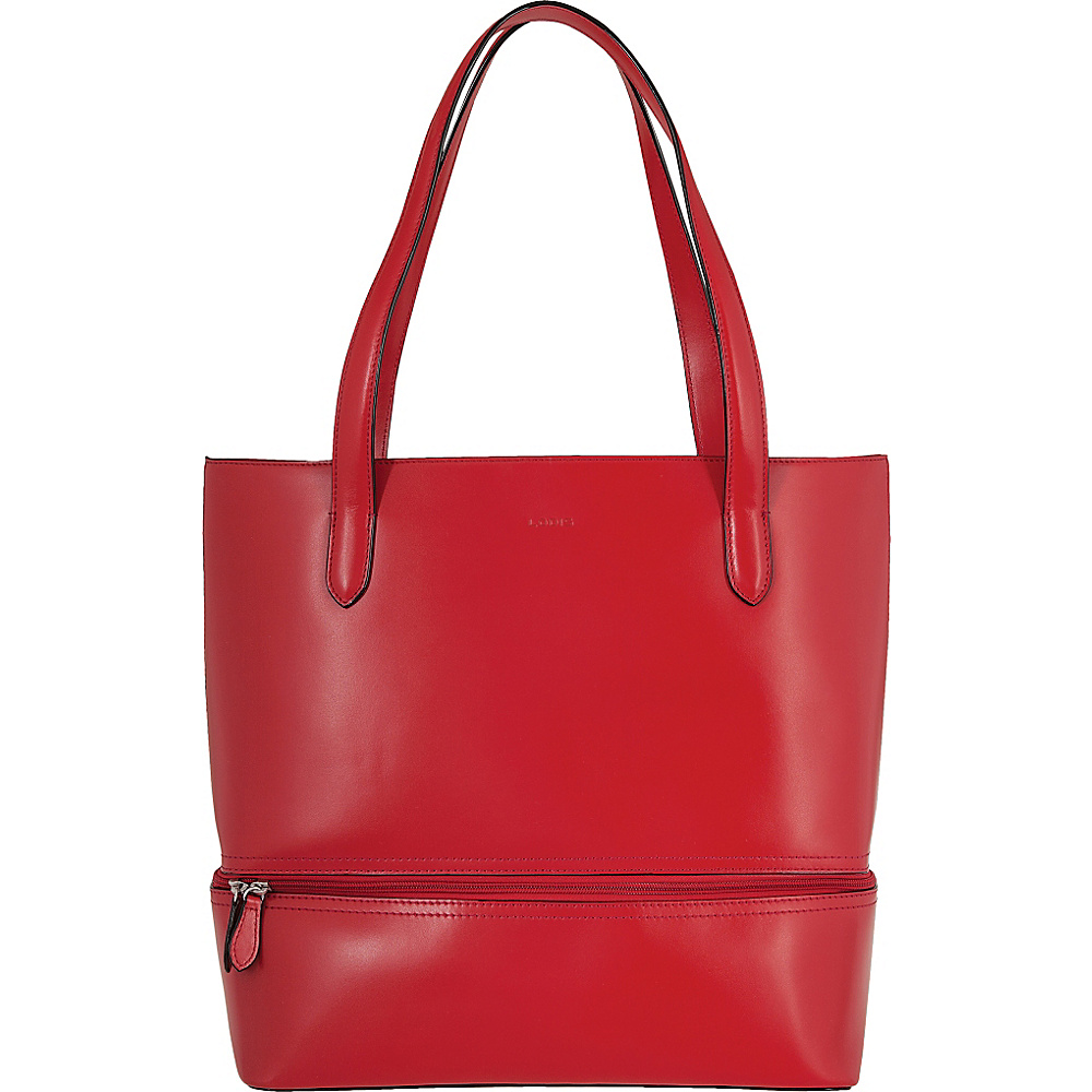Lodis Audrey Amil Commuter Tote Red - Lodis Leather Handbags - Handbags, Leather Handbags