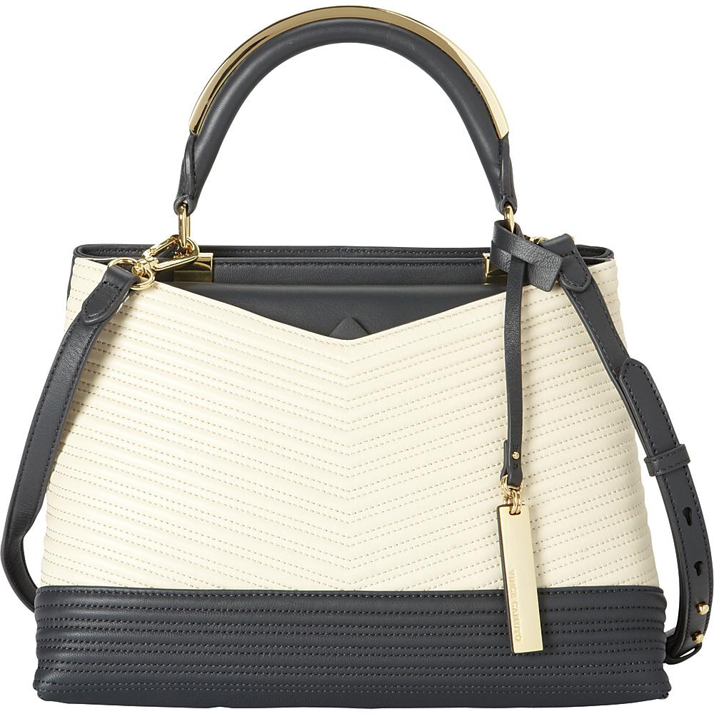 Vince Camuto Blu Satchel Graphite Batter Vince Camuto Designer Handbags