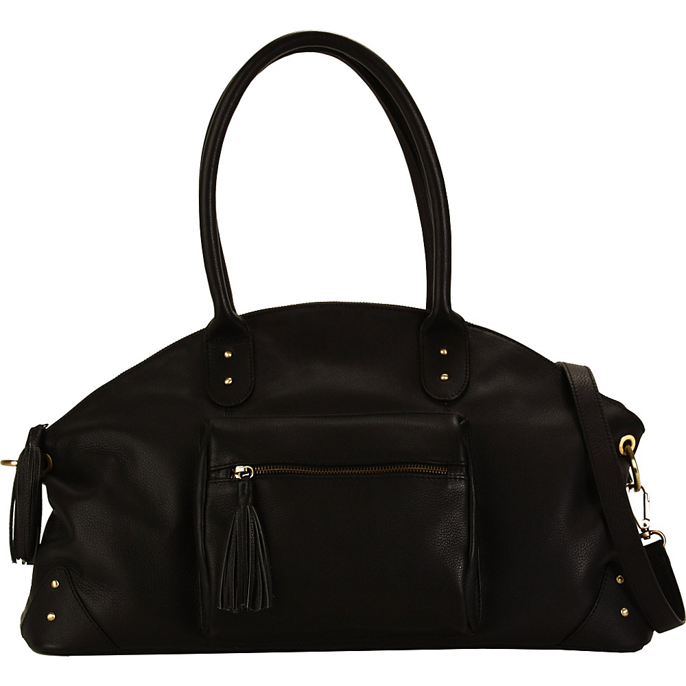 Hadaki Satchel Black - Hadaki Leather Handbags - Handbags, Leather Handbags