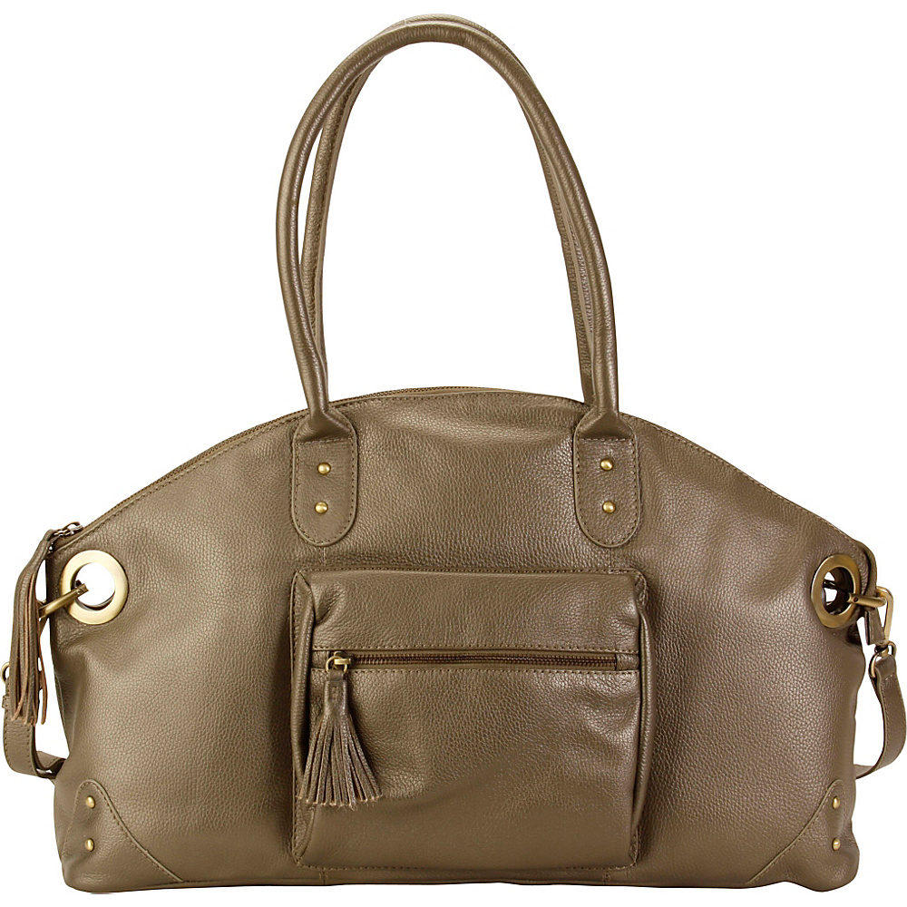 Hadaki Satchel Bronze - Hadaki Leather Handbags - Handbags, Leather Handbags